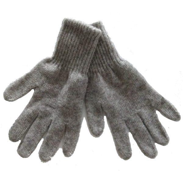 Gants gris en laine de yack